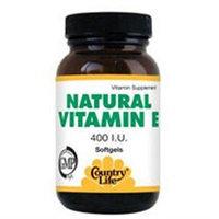 Vitamin E 400 Iu 60 Sgel By Country Life Vitamins (1 Each)