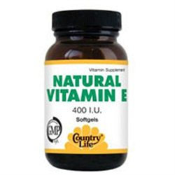 Vitamin E 400 Iu 60 Sgel By Country Life Vitamins (1 Each)