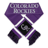 Colorado Rockies Team Stripe Scarf - Purple
