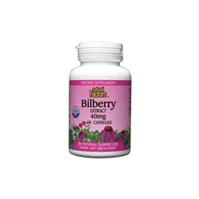 Natural Factors Bilberry Extract - 40 mg - 60 Capsules