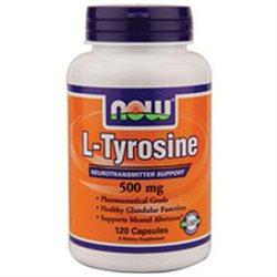 NOW Foods L-Tyrosine, 500mg, Capsules, 120 ea