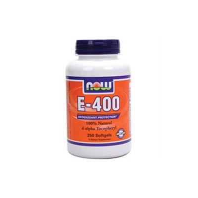 NOW Foods - E-400 D-Alpha Tocopherol - 250 Softgels