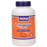 NOW Foods Pantothenic Acid 500 mg Caps