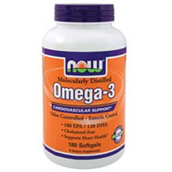 NOW Foods - Omega-3 Enteric Coated Odor Controlled Molecularly Distilled 1000 mg. - 90 Softgels