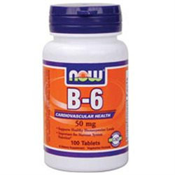 NOW Foods - Vitamin B-6 50 mg. - 100 Tablets