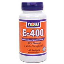 NOW Foods - Vitamin E- D-Alpha Tocopheryl Acetate 400 IU - 100 Softgels