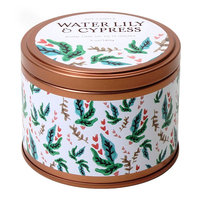 Water Lily and Cypress 5-oz. Soy Candle Tin, Multi/None
