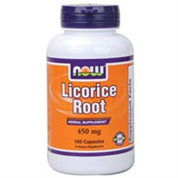 NOW Foods - Licorice Root 450 mg. - 100 Capsules