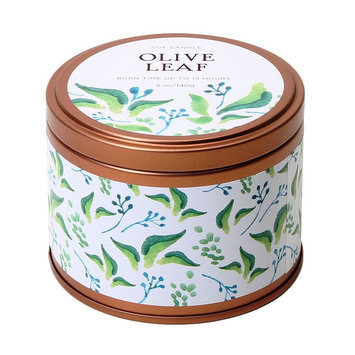 Olive Leaf 5-oz. Soy Candle Tin, Multi/None