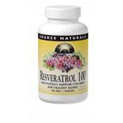 Source Naturals Resveratrol 100 - 100 mg - 30 Tablets