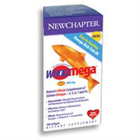 New Chapter Wholemega 500mgExtra Virgin Wild Alaskan Salmon, Softgels, 90 ea