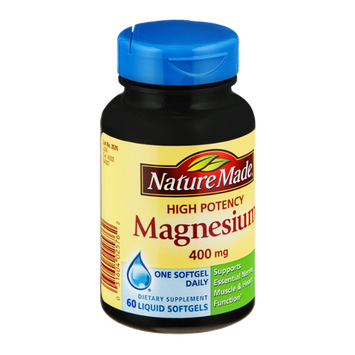 Nature Made Magnesium 400mg High Potency Liquid Softgels - 60 CT