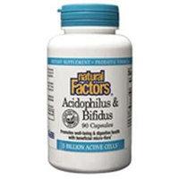 Acidophilus & Bifidus with Goat Milk 180 Capsules, Natural Factors