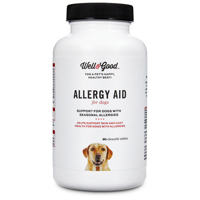 Well & Good Allergy Aid Dog Tablets, 60 count