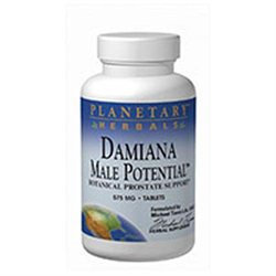 Planetary Formulations Damiana Male Potential - 180 Tablets - Male Intimacy Herbs