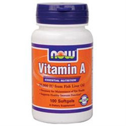 NOW Foods - Vitamin A 25000 IU - 100 Softgels