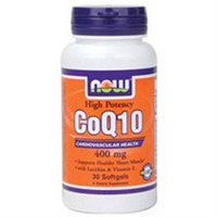 NOW Foods - CoQ10 Cardiovascular Health with Lecithin and Vitamin E High Potency 400 mg. - 30 Softgels