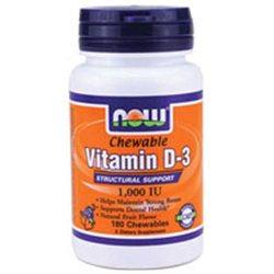 Now Foods Vitamin D-3 1000 Iu 180 Chewables