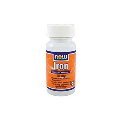 NOW Foods - Iron Ferrochel Chelated Iron 18 mg. - 120 Vegetarian Capsules