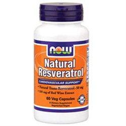 NOW Foods - Natural Resveratrol - 60 Vegetarian Capsules