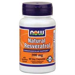 NOW Foods Resveratrol Mega Potency 200 mg Vcaps