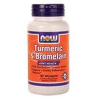 NOW Foods - Turmeric & Bromelain - 90 Vegetarian Capsules