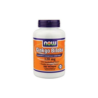 NOW Foods - Ginkgo Biloba 120 mg. - 200 Vegetarian Capsules