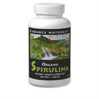 Source Naturals Organic Spirulina - 500 mg - 100 Tablets