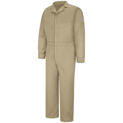 Bulwark Men's Khaki Long Sleeve Coveralls CLD4KH RG