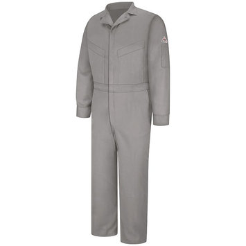 BULWARK CLD4GY FlameResistant Coverall, Gray