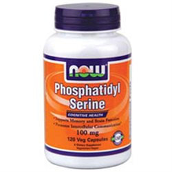 NOW Foods Phosphatidyl Serine 100mg Vcaps, 120 ea