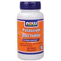 NOW Foods - Potassium Plus Iodine - 180 Tablets
