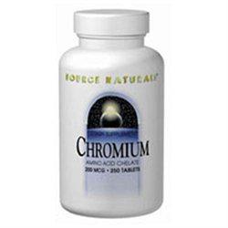 Source Naturals Chromium - 200 mcg - 100 Tablets
