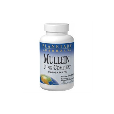 Planetary Herbals, Mullein Lung Complex 850 mg 15 Tablets