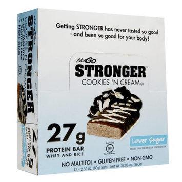 NuGo Stronger Protein Bars, Cookies n Cream, 12 ea