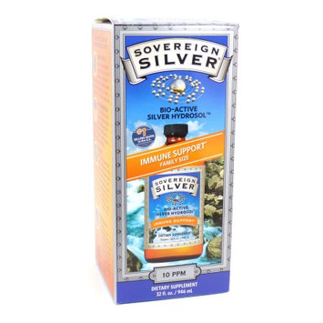 Natural Immunogenics Sovereign Silver Bio-Active Silver Hydrosol 10 ppm - 32 fl oz - Vegan