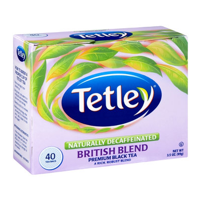 Tetley Naturally Decaffeinated British Blend Premium Black Tea Bags - 40 CT