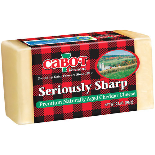 Cabot Vermont Naturally Aged Seriously Sharp Cheddar Cheese