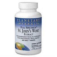 Planetary Formulas St. John's Wort Extract, Full Spectrum, 600 Mg