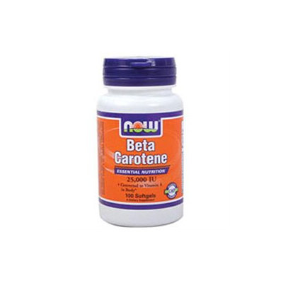 NOW Foods - Beta Carotene 25000 IU - 100 Softgels