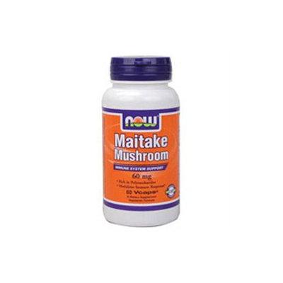 NOW Foods - Maitake Mushroom 60 mg. - 60 Vegetarian Capsules