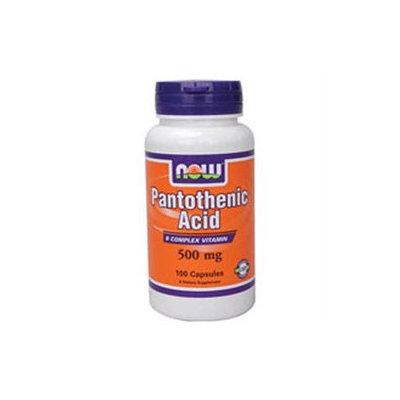 NOW Foods Pantothenic Acid, 500mg, Capsules, 100 ea