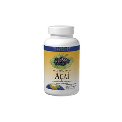 Planetary Herbals Full Spectrum Acai - 500 mg - 60 Capsules