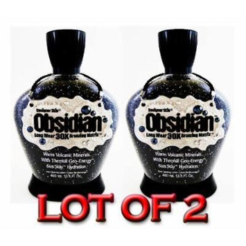 Lot of 2 Obsidian 30x Bronzer Tanning Lotion 13.5 Oz By Designer Skin