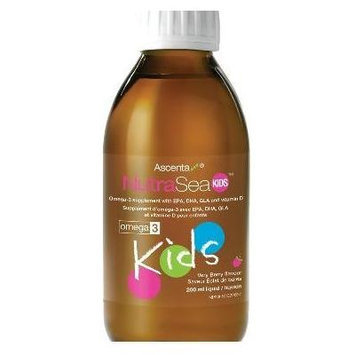 Nutra Sea Kids -Bubble Gum Flavour (200ml=6.6oz) (Herring Fish oil for Omega 3s) NutraSea by Ascenta Brand: Ascenta