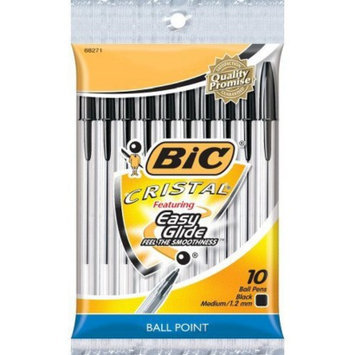 BIC CORPORATION BIC Cristal 10ct Black Ballpoint Stick Pen