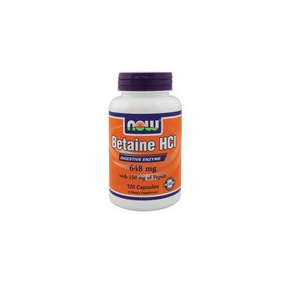 Now Foods Betaine HCl 648 mg - 120 Caps (Pack of 3)