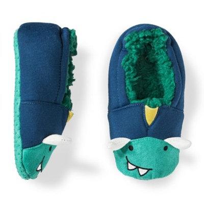 Circo Toddler Boys' Monster Slipper Socks - Green 2T/3T