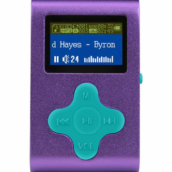 Fit Clip 4GB MP3 Player - Purple/Teal