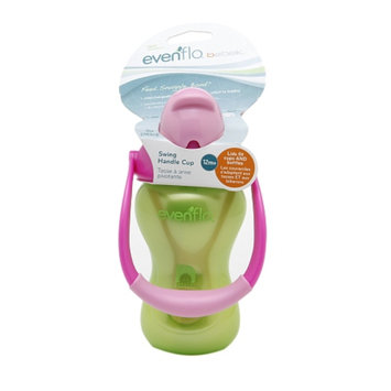 Evenflo Bebek Swing Handle Straw Cup, Green, 1 ea